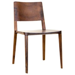 Minimalist Chair in Black Imbuia Hardwood Limited Edition without Arms
