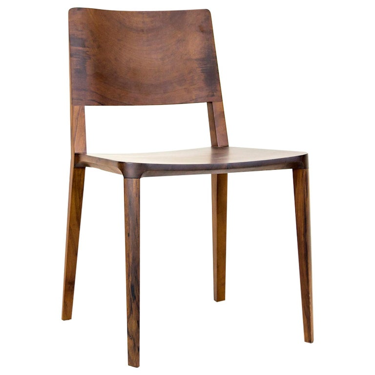 Minimalist Chair in Black Imbuia Hardwood Limited Edition For Sale