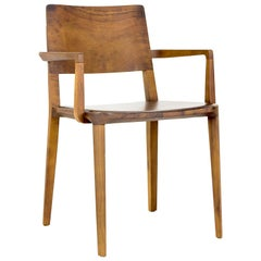 Minimalist Chair in Black Imbuia Hardwood Limited Edition with Arms