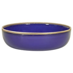 Small Indigo Glazed Hermit Bowl with Rustic Rim