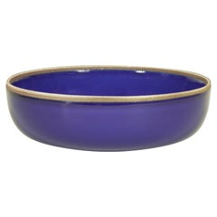 Medium Indigo Glazed Hermit Bowl with Rustic Rim