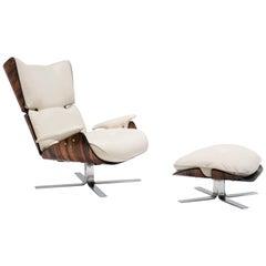 Jorge Zalszupin, Paulistana Lounge Chair and Ottoman, 1956-1965
