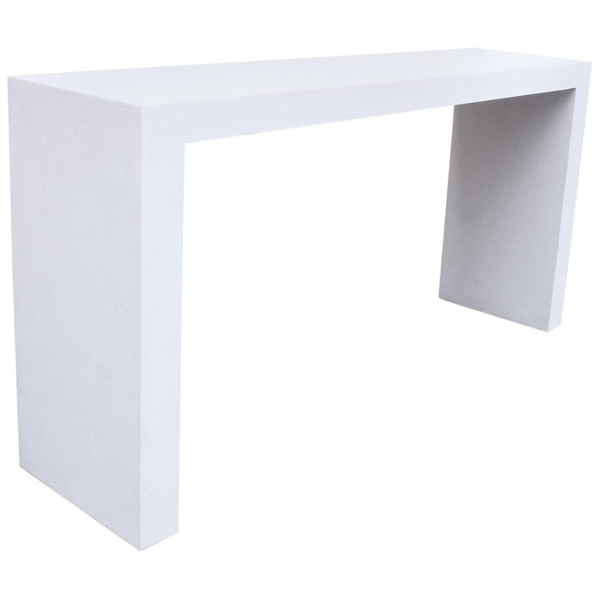 Cast Resin U0027Lynne Tellu0027 Console Table, White Stone Finish By Zachary A.  Design