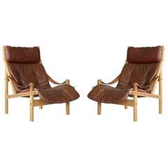 Pair of 1960s Easy Chairs Model Hunter by Torbjørn Afdal for Bruksbo, Norway