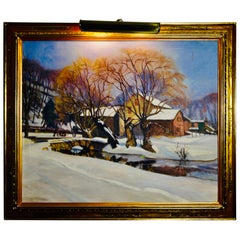 "Walter Mattern ""Winters First Snow"" Oil on Canvas"