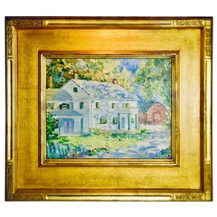 """Walter Mattern """"Family Home"""" Oil on Canvas"""