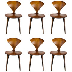 Set of Six Midcentury Cherner Dining Chairs for Plycraft
