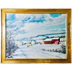 "Clarence Ira Dreisbach ""Pennsylvania Farm Winter Snow"""