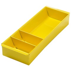 Steel Tanker Drawer Insert Repurposed as Desktop Organizer, Refinished in Yellow