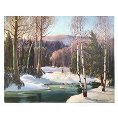 """Edna Engelhardt """"Snow Scene"""""""