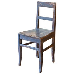 Charming 18th Century Painted Primitive Chair