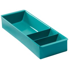 Steel Tanker Drawer Insert Repurposed as Organizer, Refinished in Turquoise