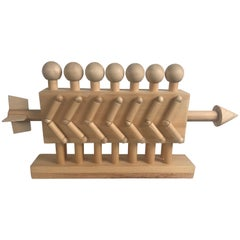 Modernist Francis Toole Natural Wood Sculpture