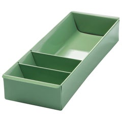 Steel Tanker Drawer Insert Repurposed as Organizer, Refinished in Sage Green