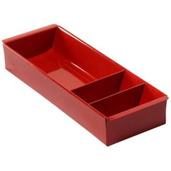 Steel Tanker Drawer Insert Repurposed as Organizer, Refinished in Ruby Red