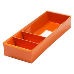 Steel Tanker Drawer Insert Repurposed as Organizer, Refinished in Orange