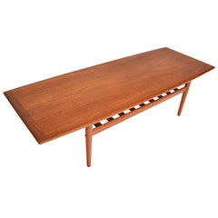 Grete Jalk for Glostrup Teak Surfboard Coffee Table