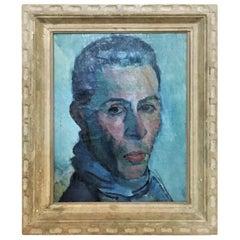 Boris Solotareff, Portrait of Mr. Lautenberg, Oil on Canvas Painting, 1920s