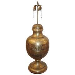 Single Large Bronze Table Lamp