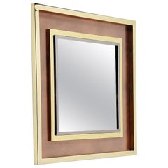 Maison Jansen XXl Wall Mounted Mirror, France, 1970