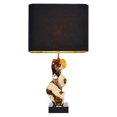 Michel Jaubert skulpturale Tisch Lampe, Frankreich, 1970