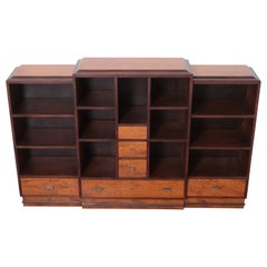 Art Deco Dynamique Creations Johnson Furniture Co. Skyscraper Bookcase Wall Unit