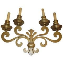 Set of Eight Gilt Bronze Sconces
