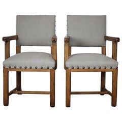 Paar Englisch des späten 19. Jahrhunderts gelegentlich Stühle