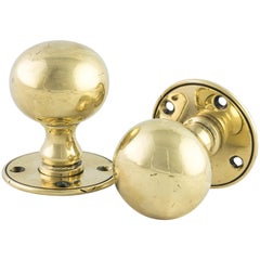 Late Victorian Brass Door Knobs
