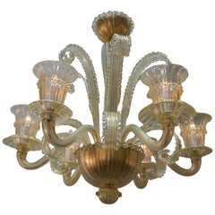 Murano Glass Chandelier by Barovier Toso