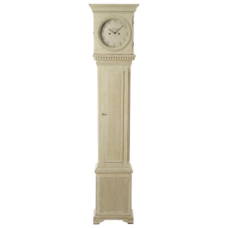 19th Century Swedish Longcase Clock 1