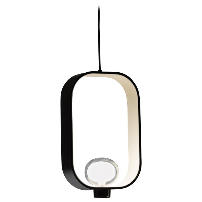 'FILIPA' Suspension Lamp in Lantern Style with Bi-Color Metal Structure For Sale