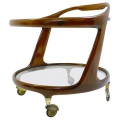 Cesare Lacca Oval Bar Cart, Italy, 1950