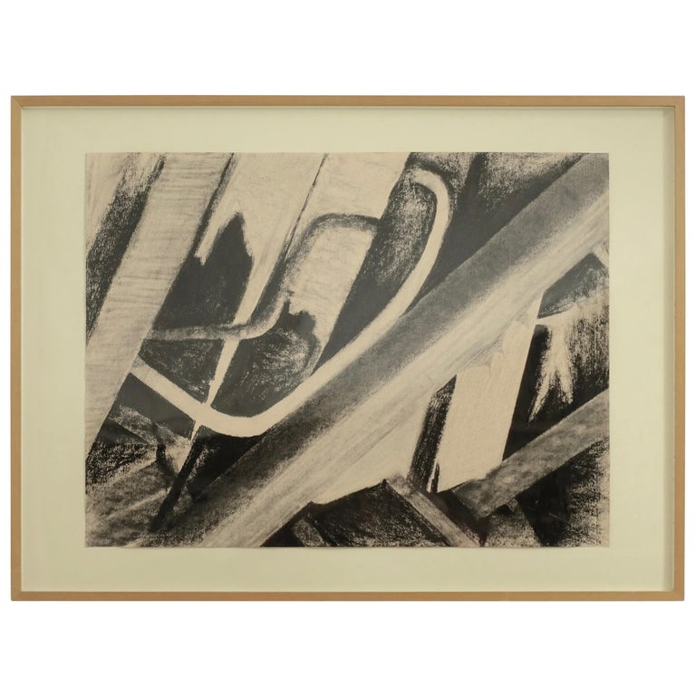 Charcoal on Paper Wreckage #5 Betty Barsha For Sale