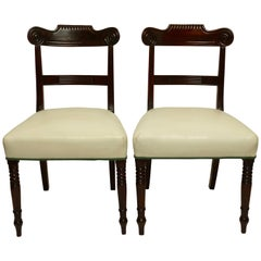 Pair of Regency Mahogany Dining Side Chairs, English, circa 1830