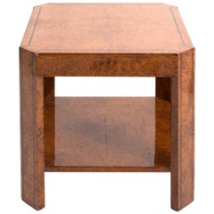 Single French Art Deco Burl Side Table, circa 1940