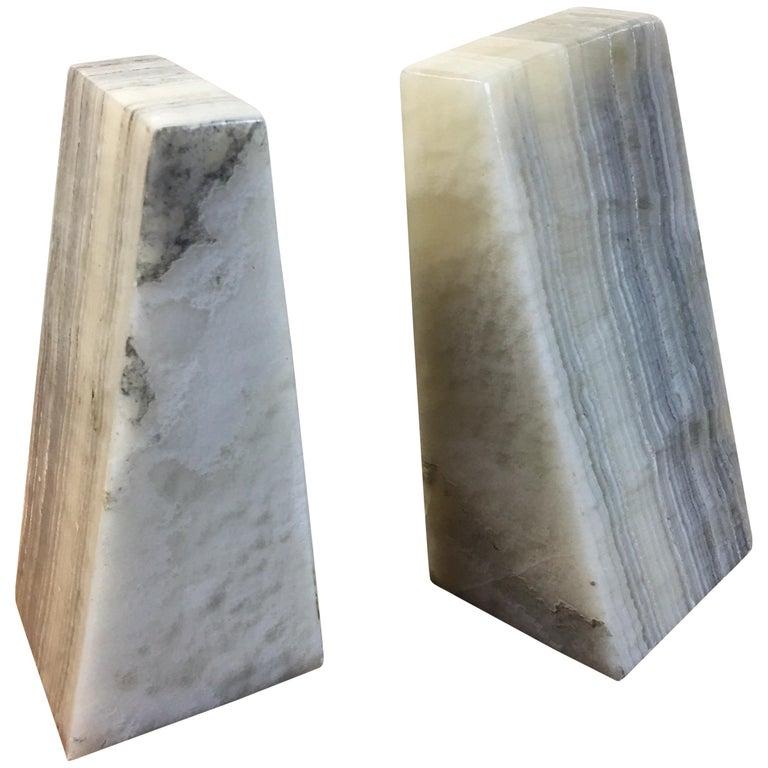 Alabaster Bookends For Sale