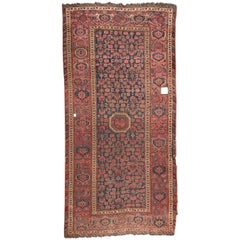 Antique Long Beshir Afghan Rug