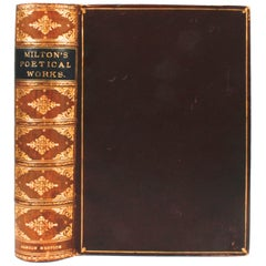 Poetical Works of John Milton, Albion Ed, Full Calf Binding