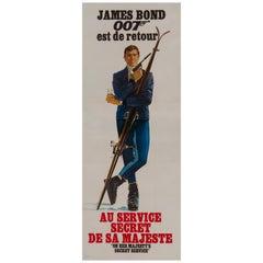 """James Bond """"on Her Majesty's Secret Service"""" Vintage French Movie Poster, 1969"""