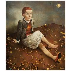 """Sergei Rimoshevski """"Cinderella"""" Oil on Canvas"""