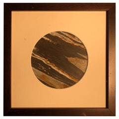 Chinese Extraordinary Tilted Planet Earth Painting, Natural Stone
