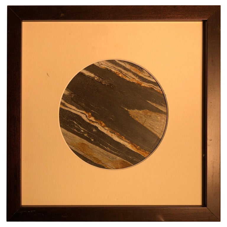 Chinese Extraordinary Tilted Planet Earth Painting, Natural Stone For Sale