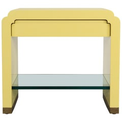 Side Table in Yellow Lacquer by Ron Seff, 1970s