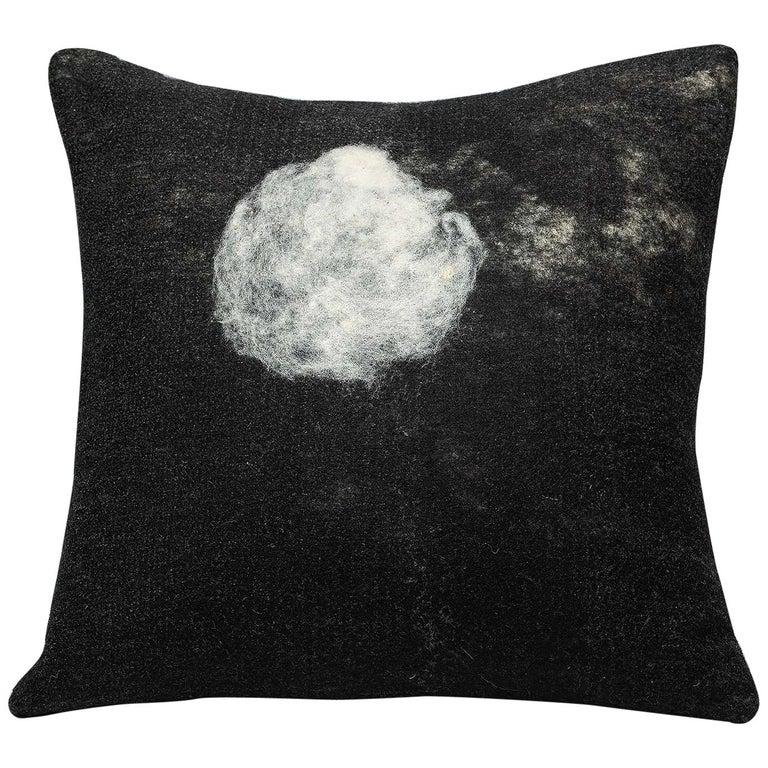 JG Switzer Black Wool Luna Pillow - Heritage Sheep Collection