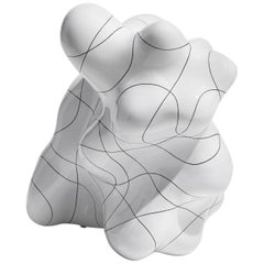 White Contemporary Ceramic Sculpture by Steen Ipsen
