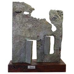 Cast Aluminum Brutalist Sculpture by Dcalvi