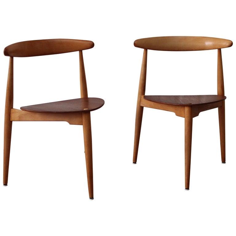 Hans Wegner Heart Chairs For Sale