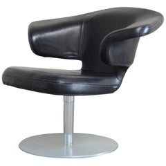 Rare Prototype of ClassiCon Munich Lounge Chair Black Leather