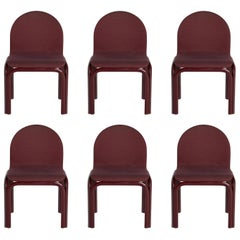 Set of Six Dining Chairs by Gae Aulenti for Knoll International, Signed, 1970s